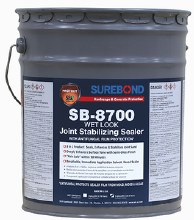 SB-8700, Wet-Look Joint Stabilizing Solvent Based Sealer with Anti-Fungal, 5 Gallon Pail