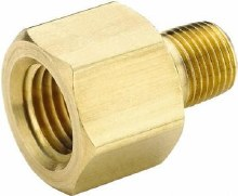 1/2in FPT x 3/8in MPT Pipe Adapter, Brass
