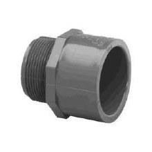 1-1/2in Male Adapter, PVC (Gray)