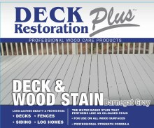 Deck Restoration Plus, Deck and Wood Stain - Barnaget Gray, 5 Gallon Pail