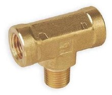 3/8in MPT Branch Tee, Brass