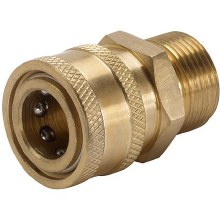 1/2in MPT Coupler, Brass