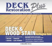 Deck Restoration Plus, Deck and Wood Stain - Burlington Gold, 5 Gallon Pail