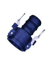 1-1/4in Type C Camlock, Female Coupler x Hose Barb, Poly