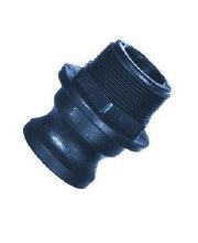 1-1/4in Type A Camlock, Male Adapter x FPT, Poly