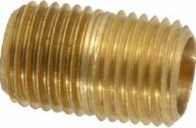 1/2in Close Nipple, Brass