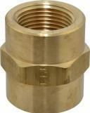 1/4in FPT Pipe Coupling, Brass