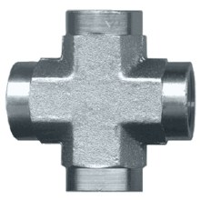 3/8in FPT Cross, Pipe fitting, Steel