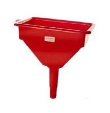 Funnel, 7in x 10in Red Plastic w/Screen