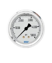 0-5000 PSI Pressure Gauge, Back Mount, SS
