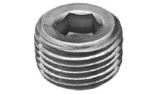3/4in MPT Hollow Hex Plug, Steel