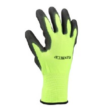 Flexzilla Coated Palm Dip Gloves, Gripper, Black/ZillaGreen, 2-Pair Pack, L/XL