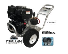 PSI Phantom Silver, Hi-Flow Series, 5 GPM @ 3000 PSI, Honda GX390, Comet Pump, Manual Start, Cold Water