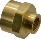3/8in x 1/4in FPT Reducer Coupling, Brass