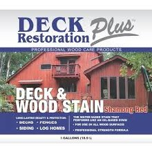 Deck Restoration Plus, Deck and Wood Stain - Shamong Red, 5 Gallon Pail