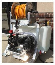 Complete All-In-One, SoftWash Skid Sprayer - Chemical Applicator, 11.4 GPM @ 290 PSI, Honda GX200, AR45LFP Dia Pump, Bare