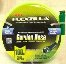 Flexzilla 3/4in x 100ft ZillaGreen garden hose w/ 3/4 GHT ends