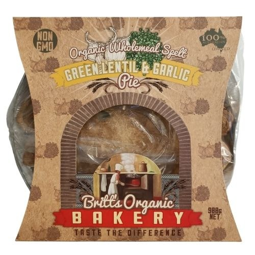 Organic Lentil & Garlic Pie