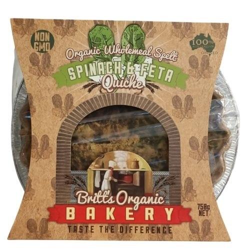 Organic Spinach & Feta Quiche