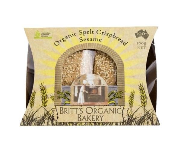 Organic Spelt Sesame Crispbread