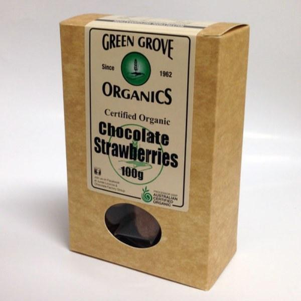 Organic Chocolate Coated Strawberries