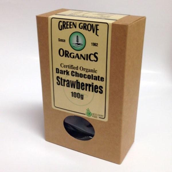 Organic Dark Chocolate Covered Strawberries