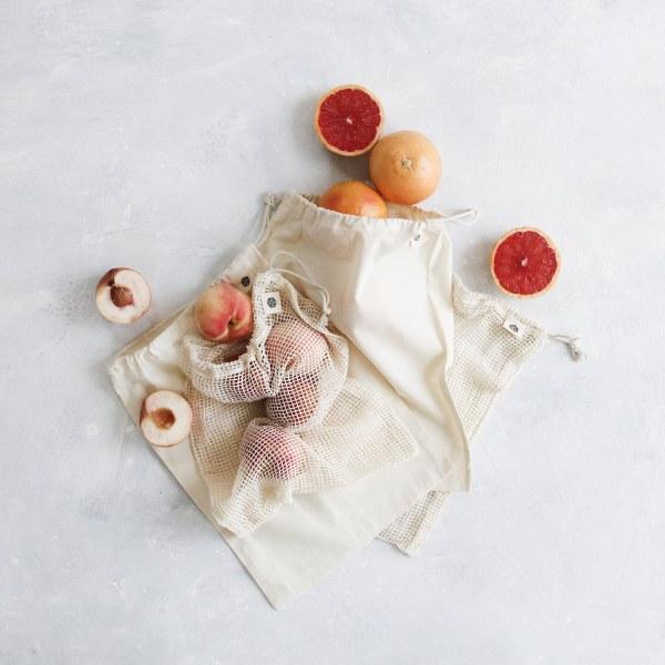 Organic Cotton Reusable Produce Bags