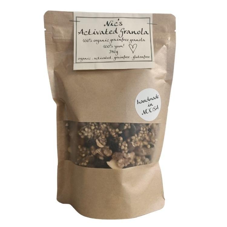 Nic's Activated Granola 340g grain free honey Vegan