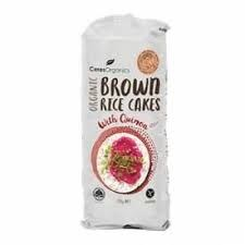 Ceres Organics Brown Rice Cakes - Quinoa 110g