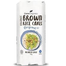 Ceres Organics Brown Rice Cakes - Sea Salt 110g