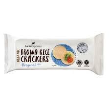Ceres Organics Brown Rice Crackers - Sea Salt  115 g