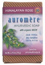 AUROMERE -Neem Soap - Ayurvedic Himalayan Rose 78g