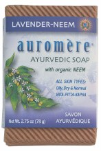 AUROMERE -Neem Soap - Ayurvedic Lavender-Neem 78g