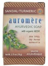 AUROMERE -Neem Soap - Ayurvedic Sandal-Turmeric 78g