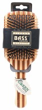 BASS BRUSHES - Bamboo Wood Hair Brush Large Square Paddle 1