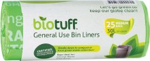 BIOTUFF -General Use Bin LinersMedium Bags - 30L
