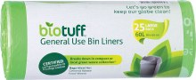 BIOTUFF -General Use Bin LinersLarge Bags - 60L