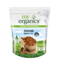 Almonds Natural 500G My Organics