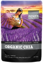 "POWER SUPER FOODS - Chia Seeds - Certified ""Organic """"The Origin Series"""" 450g"""