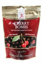 DR SUPERFOODS -Cherry Bombs Dark Chocolate Tart Cherries 125g