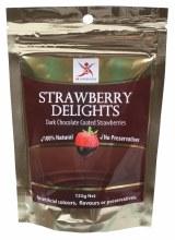 DR SUPERFOODS -Strawberry Delights Dark Chocolate Strawberries 125g