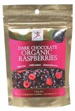 DR SUPERFOODS -Organic Raspberries Dark Chocolate Raspberries 125g
