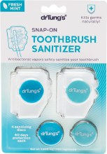 DR TUNG'S -Toothbrush Sanitizer Includes 2 Refills