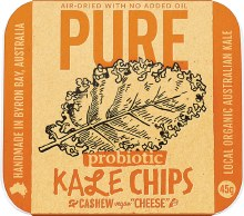 EXTRAORDINARY FOODS -Pure - Kale Chips Cashew 'Cheese' 45g