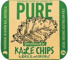EXTRAORDINARY FOODS -Pure - Kale Chips Dill and Onion 45g