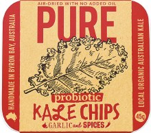 EXTRAORDINARY FOODS -Pure - Kale Chips Garlic and Spices 45g
