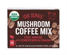 FOUR SIGMATIC -Mushroom Coffee Mix Packets With Cordyceps & Chaga 10