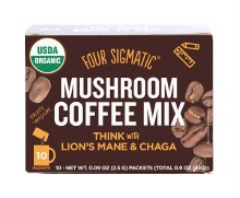 FOUR SIGMATIC -Mushroom Coffee Mix Packets With Lion's Mane & Chaga 10