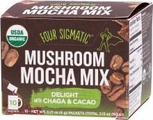 FOUR SIGMATIC -Mushroom Mocha Mix Packets With Chaga & Cacao