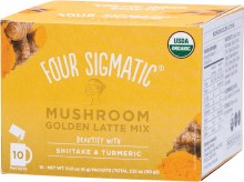 FOUR SIGMATIC -Mushroom Golden Latte Mix Packets With Shiitake & Turmeric